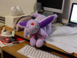Espeon Plushie by channellehazel