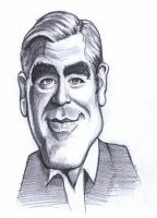 George Clooney - caricature by Alleycatsgarden