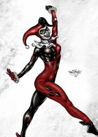 Harley Quinn Colored by likwidlead