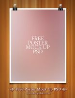 Free Poster Mock Up PSD by Designbolts
