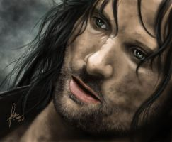 lord of the rings aragorn by landycakep