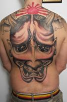 hannya backpiece in progress by graynd