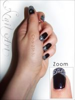 Nail art noir 03 by Cha-23h30