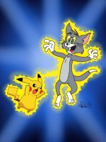 Awkward Crossovers: Tom And Pikachu by TheIransonic