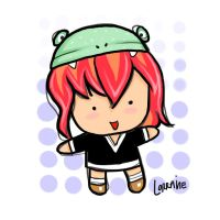 red-haired frog by lorain05