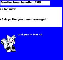 Question from RoninHunt0987 by CozandTails
