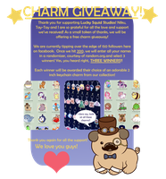 Facebook Charm Giveaway by LuckySquidStudios