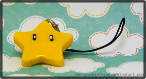 Mario Star Charm by Crazy8zCharmz