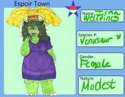 Espoir Town - Irma Wellvines Application by ajforpresident