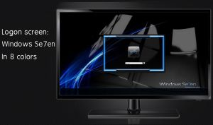 Windows Se7en logon screen 8 colors + user images by poweredbyostx