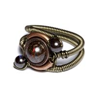 Steampunk Ring Matrix Opal 2 by CatherinetteRings