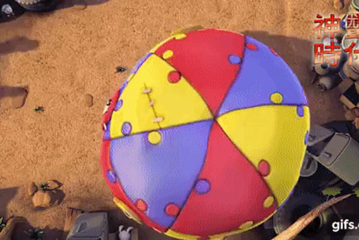 (GIF)  Dog Trapped Under Deflated Balloon Fabric by trc001