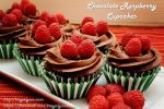 Dark Chocolate Raspberry Cupcakes by Sparkleschic