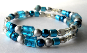 Blue Silver Bracelet by LypticDesigns