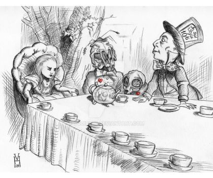Deathly Tea Party by squibble