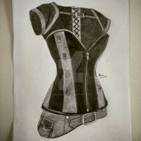 Latex and leather corset by Sokovikova-Art