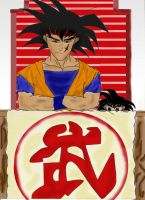 Bardock in the Cell's Metting by Melifaith