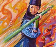 ziyi zhang in action by wimpy3