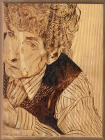 Bob Dylan Pyrography by wickedtiger86