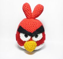 Red angry bird amigurumi toy by Shizuru117
