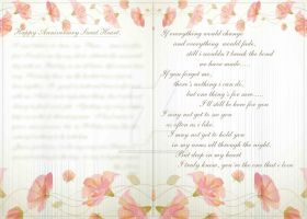 1st Anni Card for SweetHeart B by phyoeminthaw
