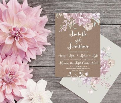 When In France Wedding Invitation by fabledpapery
