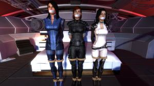 Ashley, Shepard, and Miranda tied in quarters by DIDLilGirls