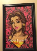 Beauty and the Beast Belle Perler Bead Design by Amber--Lynn