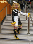 Rin (Reactor) on the stairs - NECComicCon2303 by CosmicStarAngel
