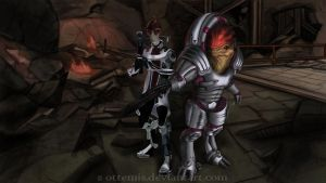 Unlikely Pair: Mordin and Wrex by Ottemis