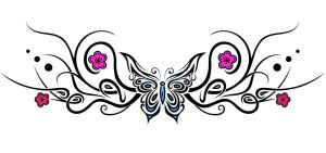Tattoo design : butterfly 2 by Dessins-Fantastiques