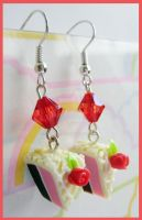 Rose Cake Earrings by cherryboop