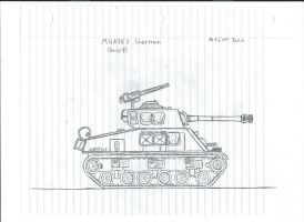 M4A3E8 Sherman by SirMauser
