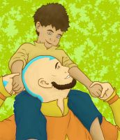 Aang and Bumi by shango266