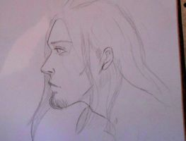 man profile sketch by Mary-Grave