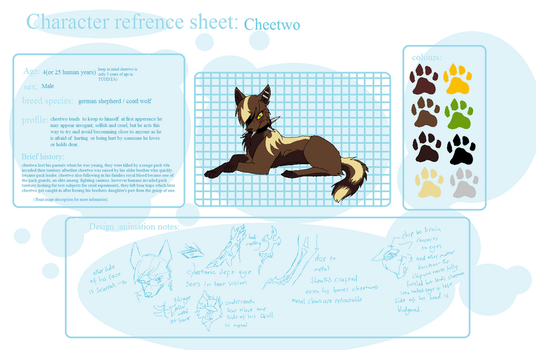 cheetwo refrence sheet by reaper-neko
