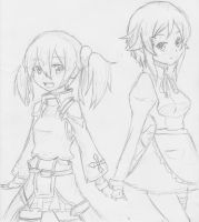 SAO: Silica and Lisbeth by Tenshi-Zetsumei