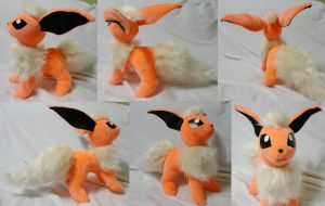 Flareon plushie version 2 by Rens-twin