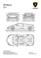 Lamborghini LP420-1 Prototype Design Blueprints by hanif-yayan