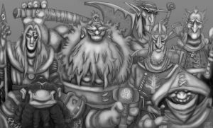 Questing Party (in progress) March 2015 by yig