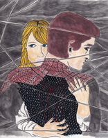 Gwen and Spiderman by ange-etrange