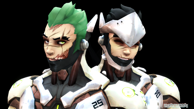 MMDxOverwatch: Genji Facemodel DL by RandomDraggon