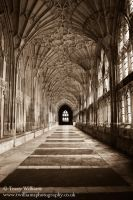 Gloucester Cathedral Cloister by twilliamsphotography