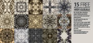 15 Hi-res Free Kaleidoscopic Patterns by Marcianek