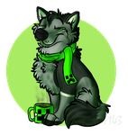 Gavin the creeper wolf by KTPPaws143