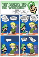 Sucks to be Luigi: Link's Hair by kevinbolk