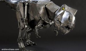 Mechanical metal T. rex cropped by Andrew-Chase