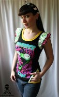 Invader Zim Top by smarmy-clothes
