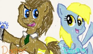 Doctor Whooves and Derpy by uttercupbay