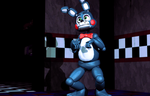 Toy Bonnie is definitely planning something here. by FourthFilly4th
